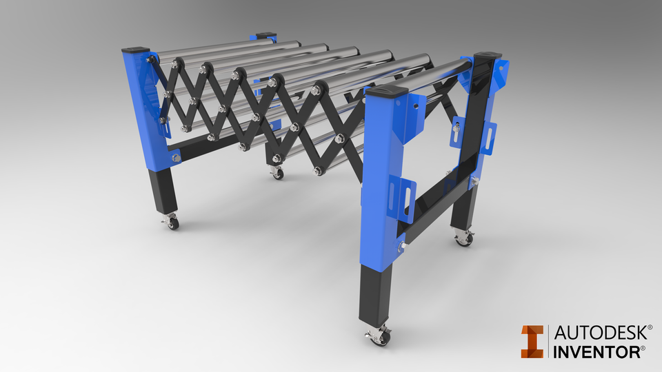 Flexible Conveyor + animation | 3D CAD Model Library | GrabCAD