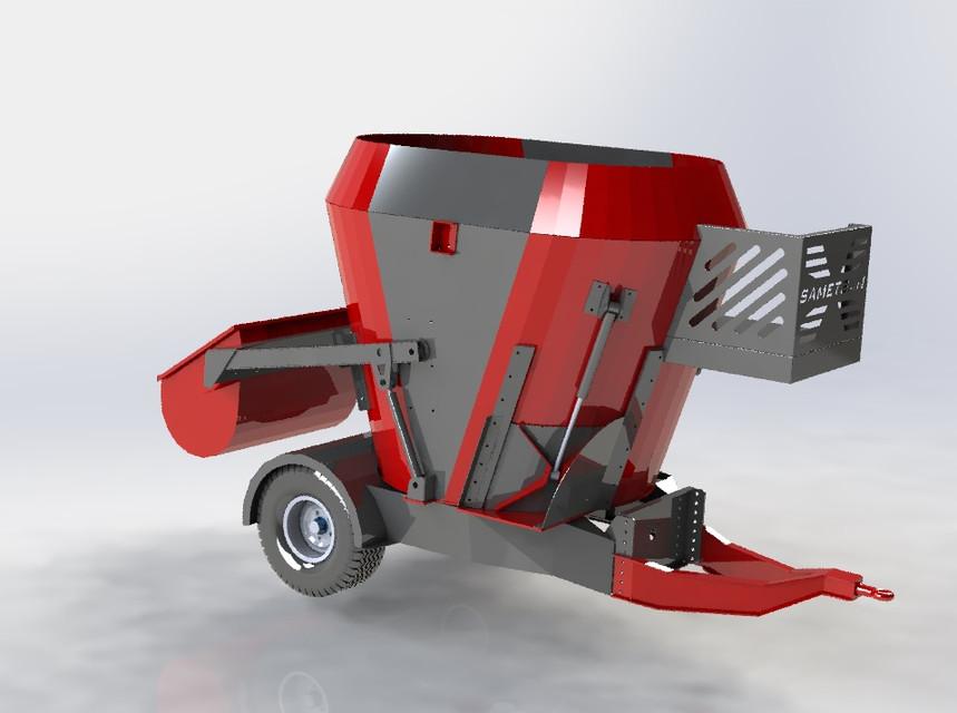 feeder mixer wagon | 3D CAD Model Library | GrabCAD