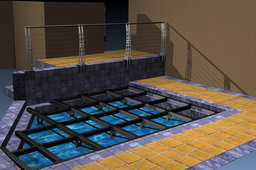 Modular Pool Deck frame