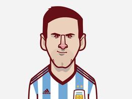 Lionel Messi Vector Pendant