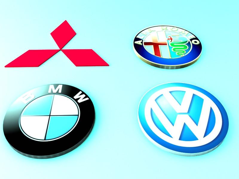 Logo cars part 3, DXF, 3DS MAX | 3D CAD Model Library | GrabCAD
