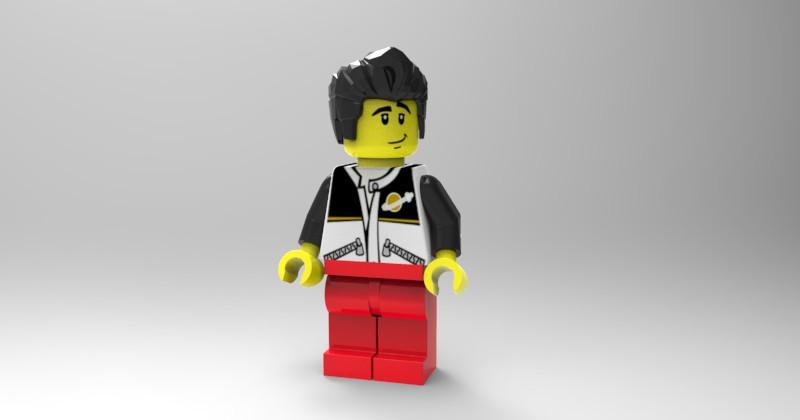 Lego Minifig set | 3D CAD Model Library | GrabCAD