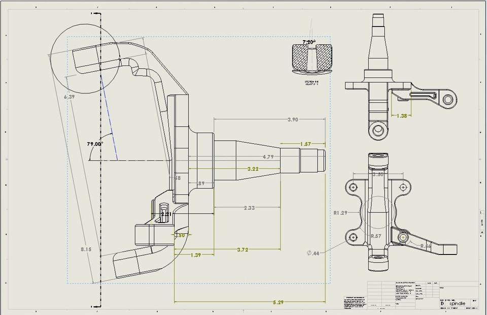Mustang Ii Front Hub 3d Cad Model Library Grabcad