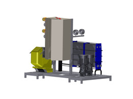 Wine exchanger with wine pump and glycol pump