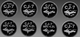 Costom Trail Rated Jeep Badge