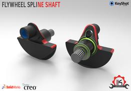 Motor Cycle Engine Internal Setup - Flywheel Spline Shaft