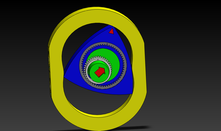 Rotary Engine Stl Step Iges Solidworks Other 3d