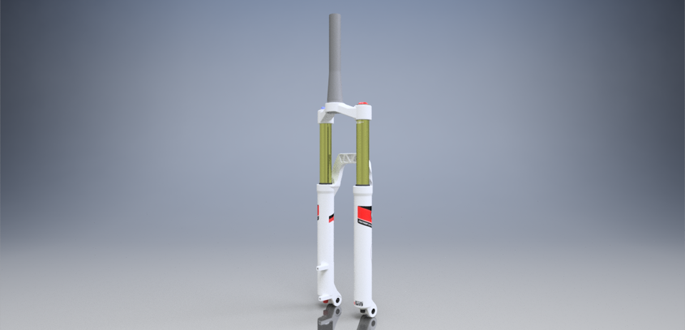 FOX 32 suspension forks | 3D CAD Model Library | GrabCAD