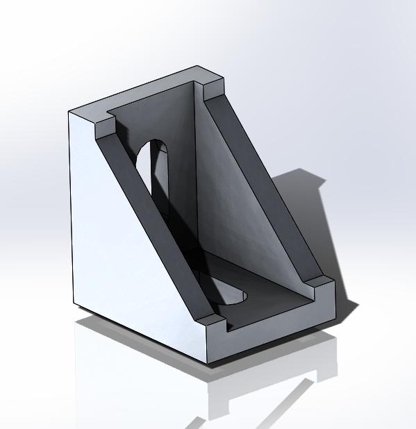 ALUMINIUM PROFILE 30X30 ANGLE CONNECTOR | 3D CAD Model Library | GrabCAD