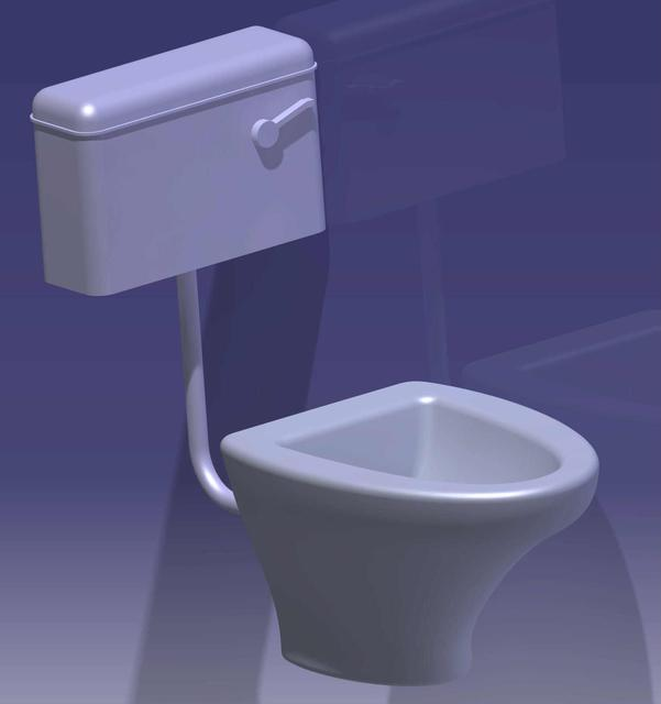 Toilet seat (bathroom commode) | 3D CAD Model Library | GrabCAD
