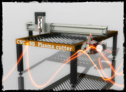 CNC plasma cutter with rotation