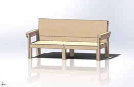 Simple Sturdy 2x4 Couch and Love Seat