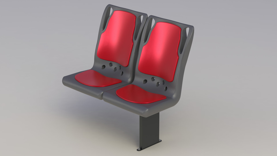 Bus Seat 3d Cad Model Library Grabcad
