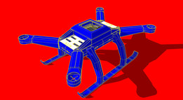 Cargo drone quadcopter 550+ heavy lift for 3D printing