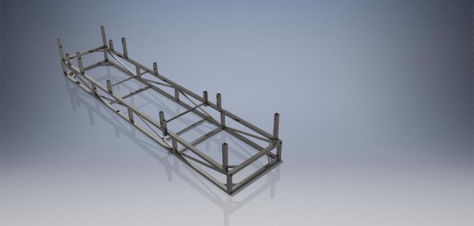1968-1970 B-Body Mopar Frame Jig | 3D CAD Model Library | GrabCAD