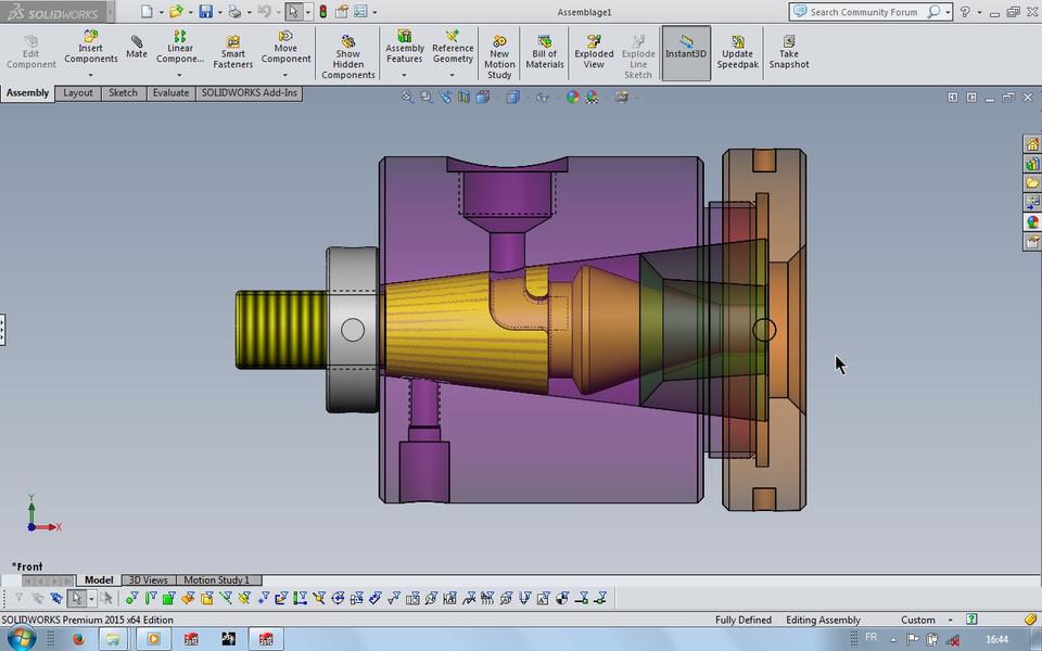 plastic extrusion die | 3D CAD Model Library | GrabCAD
