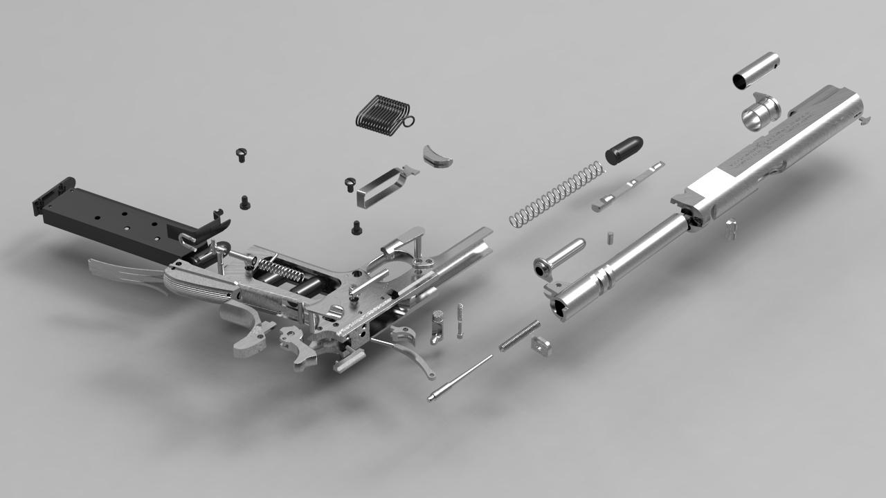 Gun Engineering Drawings nx Pro/engineer Wildfire