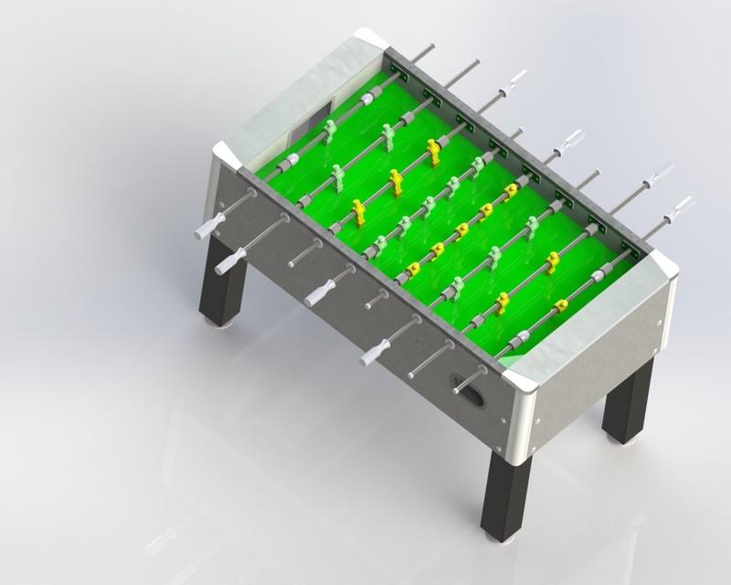 Foosball Table D CAD Model Library GrabCAD - Wilson foosball table