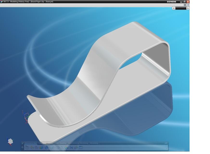Board Paper Clip | 3D CAD Model Library | GrabCAD