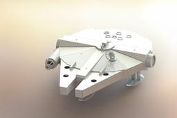 Millennium Falcon, Star Wars 3d puzzle, sheetmetal, spaceship, metalcraftdesign