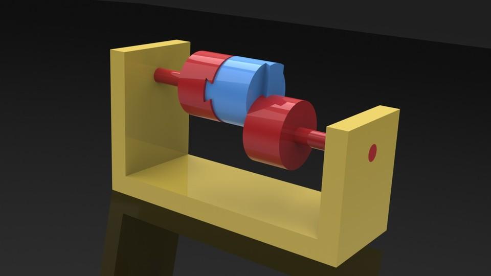 Oldham's Coupling - SOLIDWORKS,STL - 3D CAD model - GrabCAD