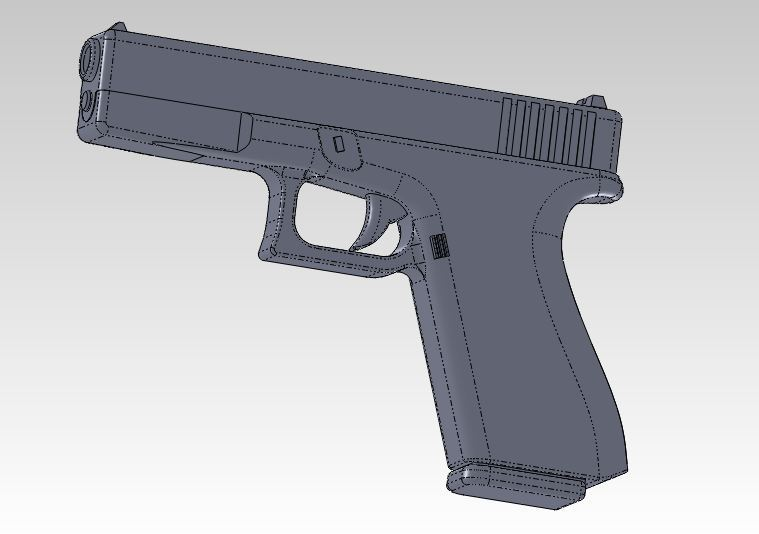 glock - Most downloaded models | 3D CAD Model Collection | GrabCAD