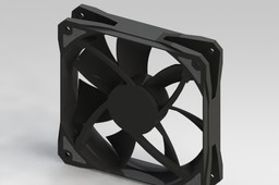 120 x 120 x 25 mm 7 blades fan case