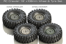 """1.9"""" x 108mm Wheel Rim and Tyre for 1/10 Scale RC Rock Crawler"""