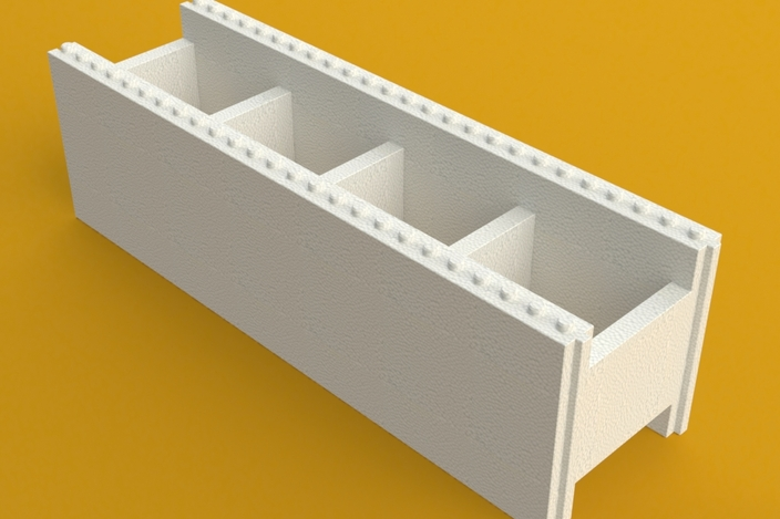 Energy saving styrofoam block for building solidworks for Foam blocks building construction