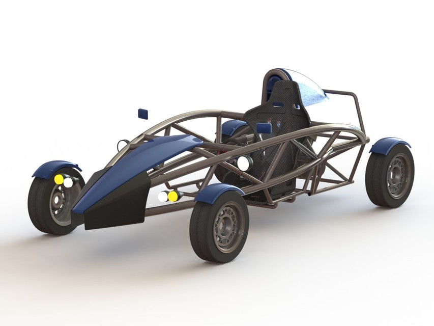 Ariel Atom Sports Car | 3D CAD Model Library | GrabCAD