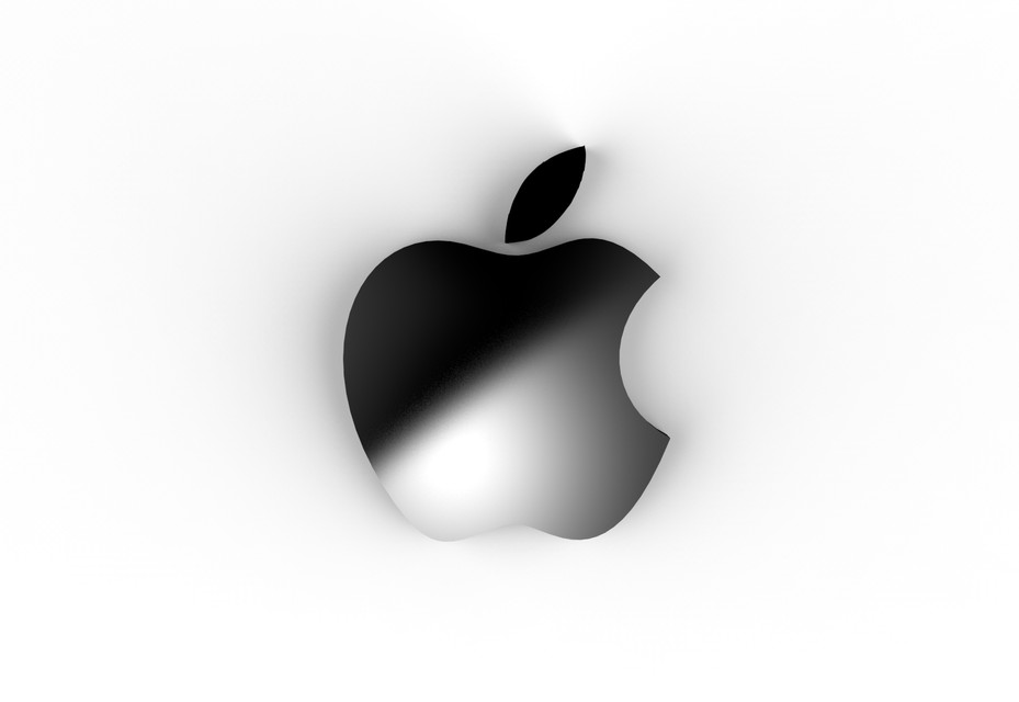 apple logo 3d cad model library grabcad