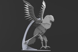 American Bald Eagle, sheet metal puzzle, Bird of Prey, 3d model, 3d puzzle