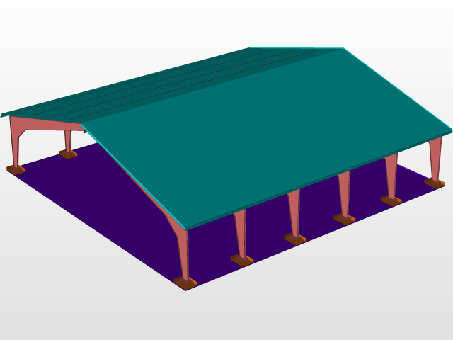 Revit Skills Showcase: My Personal Aircraft Hanger   3D CAD Model