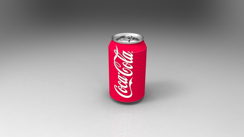Soft drink can   3D CAD Model Library   GrabCAD