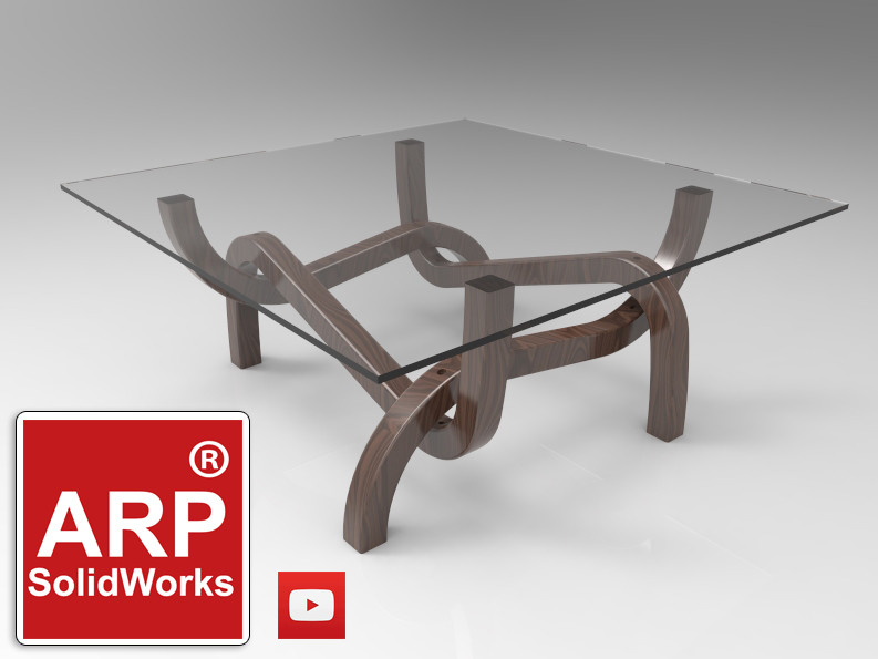 Curved Table Legs | 3D CAD Model Library | GrabCAD
