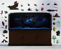 Fish Aquarium - 38 Models, 100+ renderings, one download!