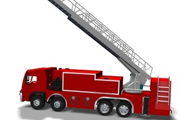 Fire & Rescue Truck With Animation SolidEdge