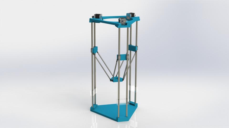 delta 3d printer solidworks step iges 3d cad model grabcad. Black Bedroom Furniture Sets. Home Design Ideas