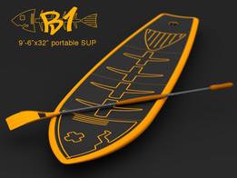 "B1 9'-6""x32"" portable SUP"