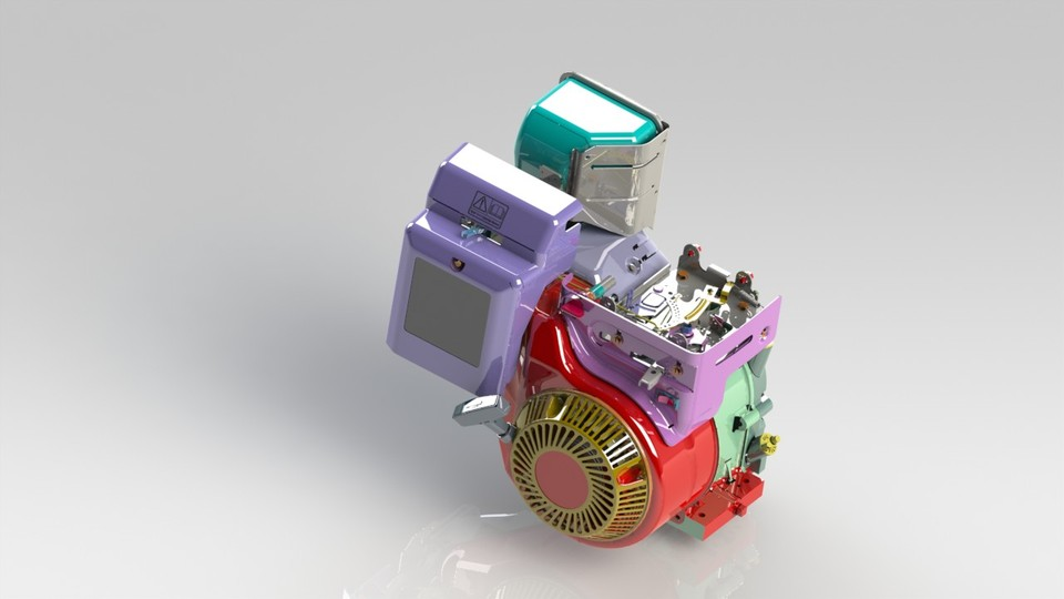 briggs and stratton engine-baja | 3D CAD Model Library | GrabCAD