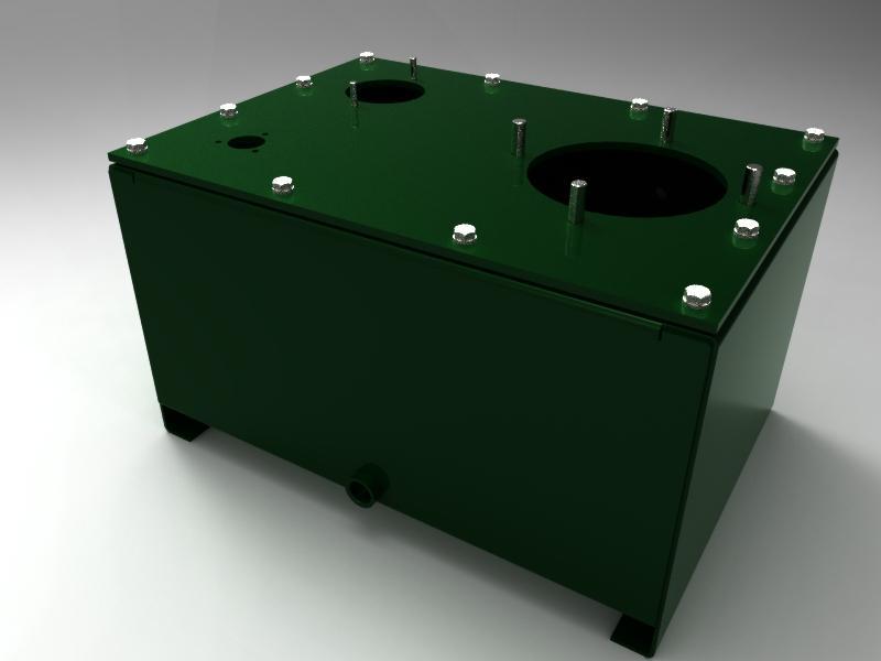 30 Ltr Hydraulic Reservoir | 3D CAD Model Library | GrabCAD