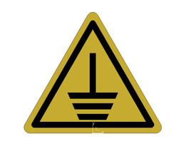 Etiquette triangulaire terre  / Label triangular ground