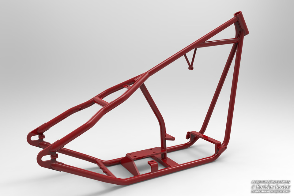 natural frequencies and mode shapes of hardtail motorcycle frame 3d cad model grabcad - Motorcycle Frame