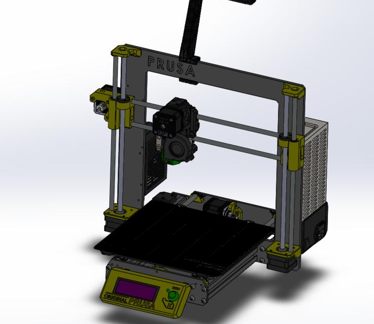 Prusa i3 MK3 SolidWorks   3D CAD Model Library   GrabCAD