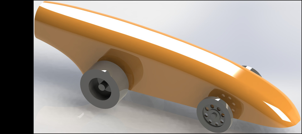My CO2 Dragster Rail Car | 3D CAD Model Library | GrabCAD