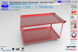 Solid Edge Skills Showcase: Trolley Cart - 2 Shelves