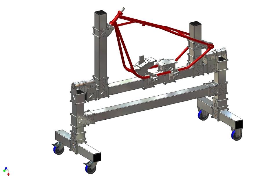 motorcycle frame jig | 3D CAD Model Library | GrabCAD
