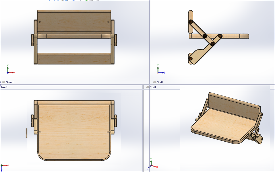 Delicieux Folding Wall Chair | 3D CAD Model Library | GrabCAD