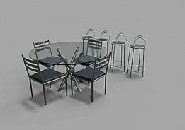 Mesa, Cadeira e Banquinho - Table, Chair and stool