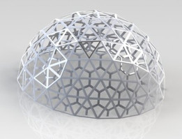 Two layer geodesic dome